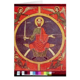 El panel lateral de un altarpiece tarjeta