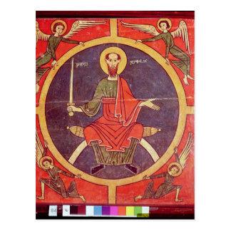 El panel lateral de un altarpiece postal