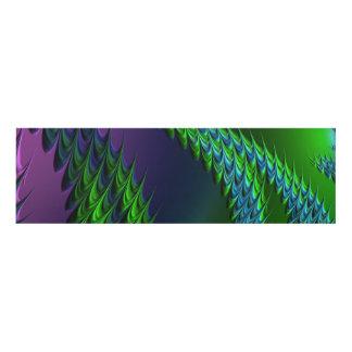 El panel púrpura del zigzag del verde 3D
