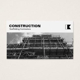 El panel superior - construcción - andamio B&W Tarjeta De Negocios