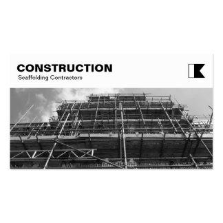 El panel superior - construcción - andamio B&W Tarjetas De Visita
