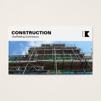 El panel superior - construcción - andamio tarjeta de negocios