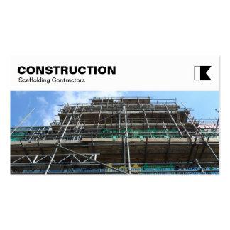 El panel superior - construcción - andamio tarjetas de visita