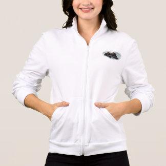 El paño grueso y suave de las señoras de los pares chaqueta imprimida
