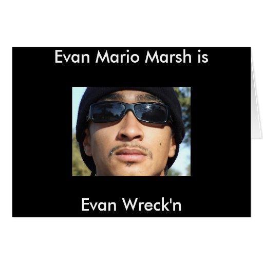 El pantano de Evan Mario es Felicitaciones