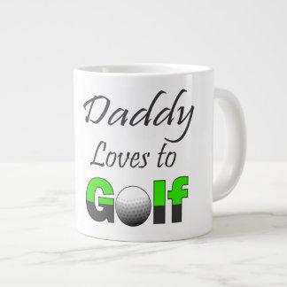 El papá ama amante del golf de la taza grande de