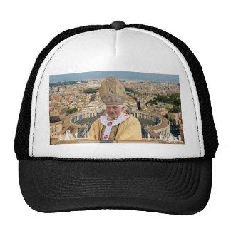El papa Benedicto XVI con la Ciudad del Vaticano Gorros Bordados