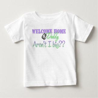 ¿El papá casero agradable no es yo grande? Camiseta De Bebé