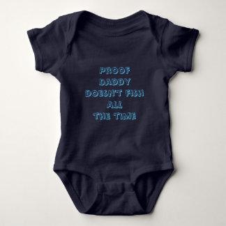 El papá de la prueba no pesca todo el tiempo body para bebé