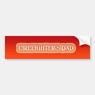 El papá del bombero pegatina para coche