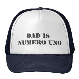 el papá es uno del numero gorros