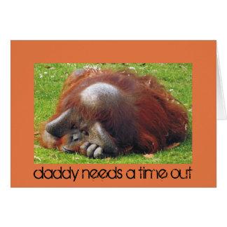El papá necesita tarjetas divertidas de una foto d