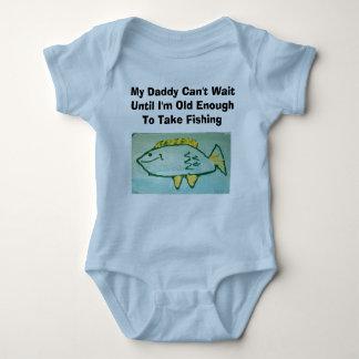 El papá no puede esperar---Pesca Body Para Bebé