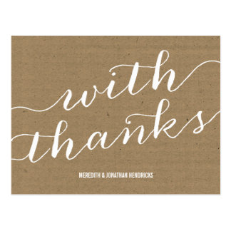 Browse the Rustic Wedding Thank You Postcards Collection and personalize by color, design, or style.