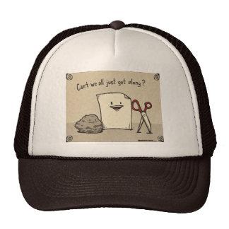 El papel de la roca de Brown Scissors el gorra