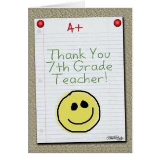 El papel del cuaderno le agradece por profesor de