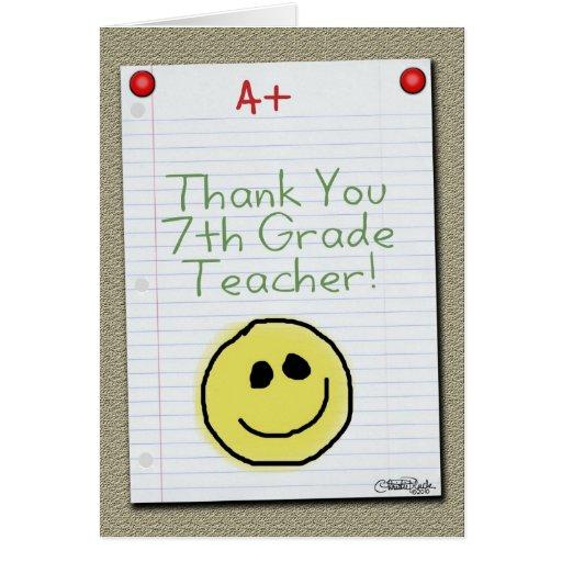 El papel del cuaderno le agradece por profesor de  felicitación