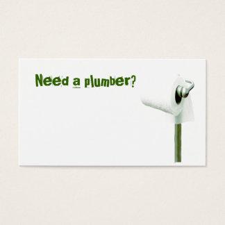 ¿el papel higiénico, necesita a un fontanero? tarjeta de negocios