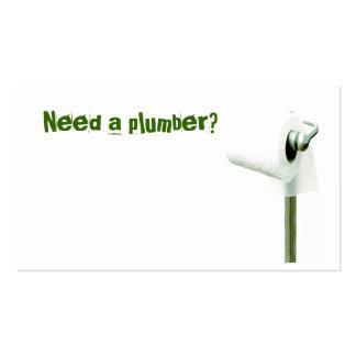 ¿el papel higiénico, necesita a un fontanero? tarjeta de visita