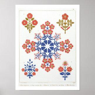 El papel pintado del adorno de Violiet, del iris y Impresiones
