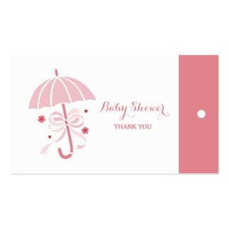 El paraguas lindo del rosa de la fiesta de tarjetas de visita