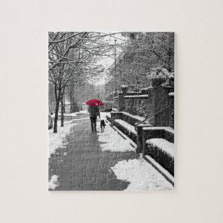 El paraguas rojo puzzle