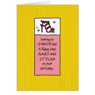 El parecer fabuloso en su cumpleaños tarjeta de felicitación
