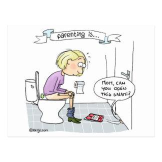 El Parenting… nunca está agujereando Postal