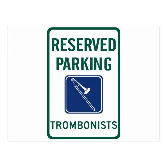 El parquear de los trombones postal