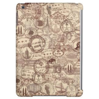 El pasaporte del vintage sella el caso del iPad