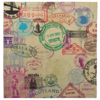 El pasaporte del vintage sella servilletas del