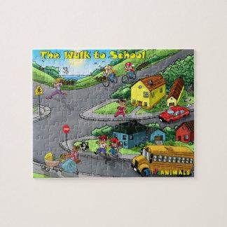 El paseo a la escuela - 110 pedazos puzzle