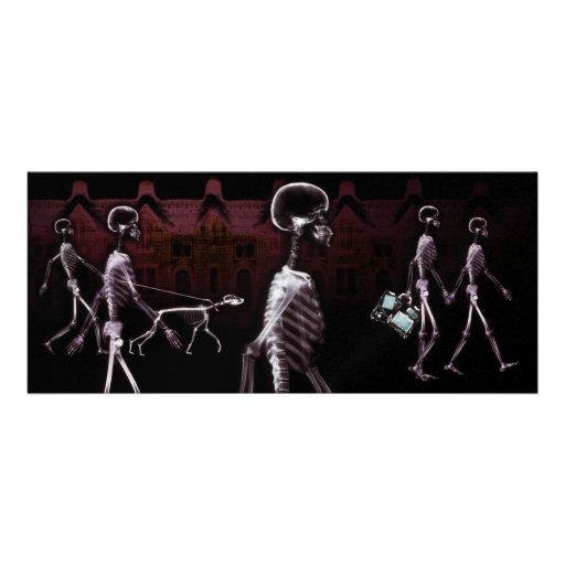 El paseo de medianoche de los esqueletos de la rad invitacion personalizada