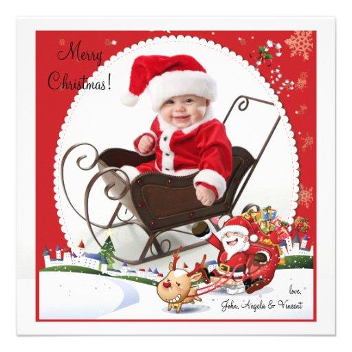 El paseo de Santa - tarjeta del día de fiesta de l Comunicados