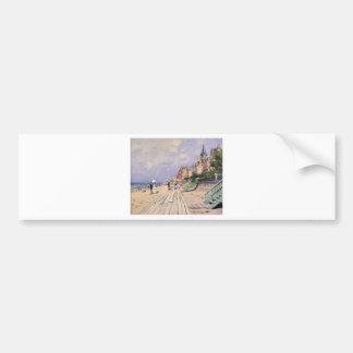 El paseo marítimo en Trouville Claude Monet Pegatina Para Coche