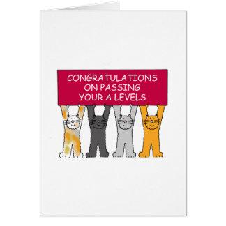 El paso de A nivela enhorabuena Tarjeta De Felicitación