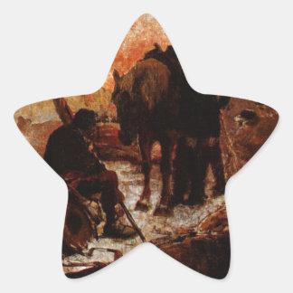 El Paso de los los Andes de Arturo Michelena Pegatina En Forma De Estrella