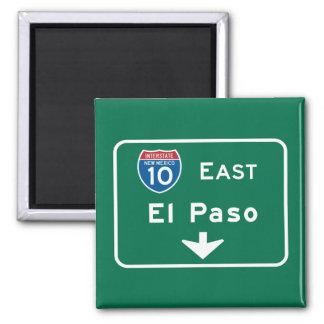 El Paso, señal de tráfico de TX Iman De Frigorífico