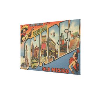 El Paso Tejas - Ciudad Juárez Impresión De Lienzo