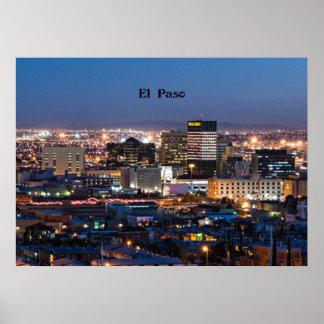 El Paso, Tejas en la noche Póster