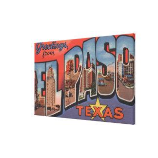 El Paso, Tejas - escenas grandes 2 de la letra Impresion De Lienzo