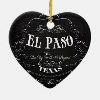 El Paso, Tejas - la ciudad con una leyenda Adorno De Cerámica En Forma De Corazón