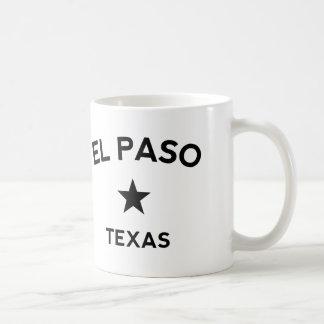 El Paso Tejas Taza Básica Blanca