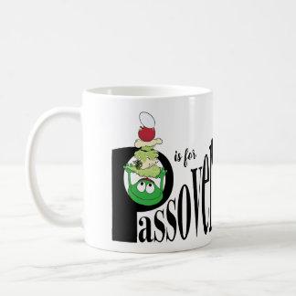 """El Passover """"P es para el Passover"""" taza de café"""