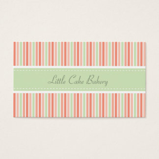 El pastel raya la panadería tarjeta de visita