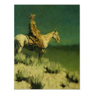 El pastor de la noche de Federico Remington (circa Invitación 10,8 X 13,9 Cm