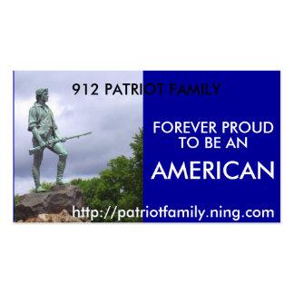 El patriota americano, FAMILIA de 912 PATRIOTAS, Tarjetas De Visita