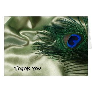 El pavo real verde de Apple todavía que se casa le Tarjeta