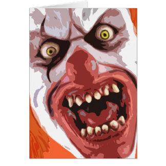 El payaso macabro oficial - Sr. Creepy- Tarjeta De Felicitación