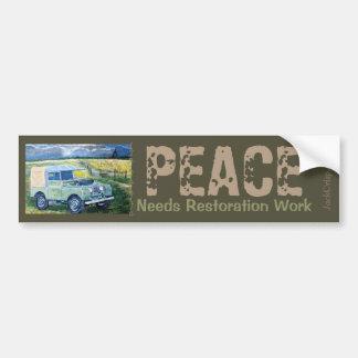 """""""El ~PEACE del taxi """"FREYA"""" del camión necesita el Pegatina Para Coche"""